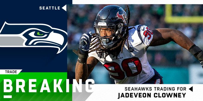 Jadeveon Clowney Traded to the Seattle Seahawks